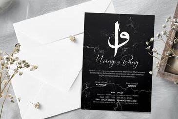 Dini düğün davetiye modeli