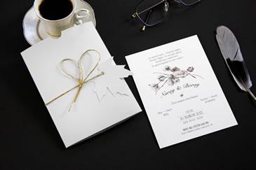 Pamuklu davetiye örnekleri, desenli zarflar