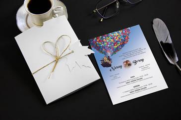Karikatürlü düğün davetiye örnekleri