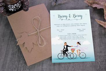 Bisikletli davetiye örneği