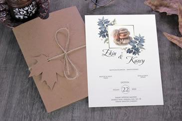Esprili düğün davetiyeleri