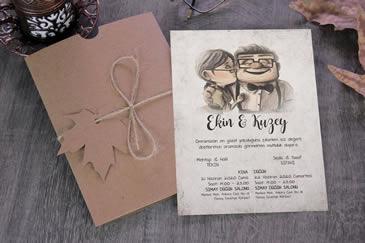 Çok satan değişik düğün davetiyesi
