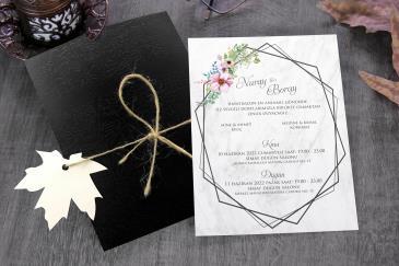 İlginç karikatürlü düğün davetiye modeli