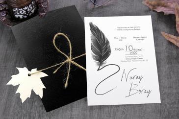 En güzel sade düğün davetiye modelleri