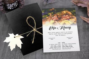 Değişik düğün davetiyesi