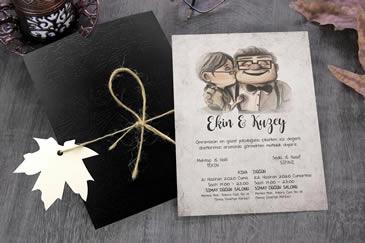 Çok satan değişik düğün davetiye modelleri