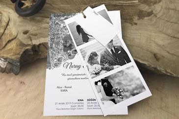 Yeni 2020 fotoğraflı düğün davetiye modeli