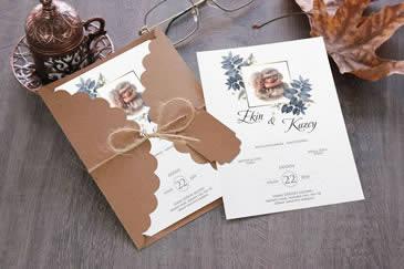İlginç esprili düğün davetiye modelleri
