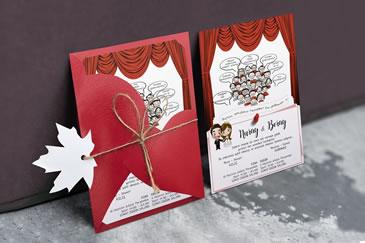 Değişik karikatürlü düğün davetiye örnekleri