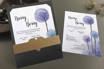 Sade düğün davetiye modeli