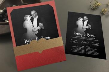 Atatürklü yeni düğün davetiye modelleri