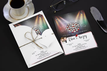 Karikatürlü düğün davetiye modelleri
