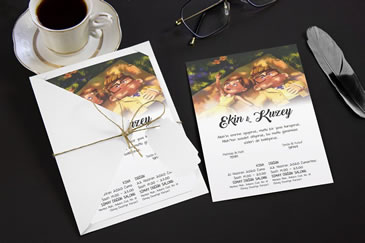 İlginç karikatürlü düğün davetiye modelleri