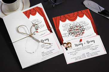Karikatürlü değişik düğün davetiyesi