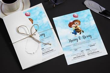 Romantik düğün davetiyeleri