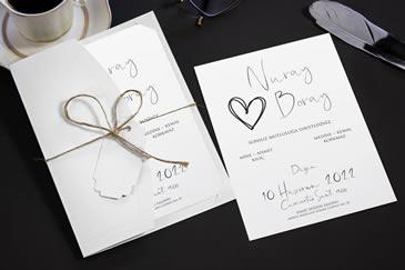 Sade el yazılı davetiye modelleri