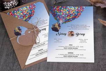 Değişik düğün davetiyeleri