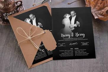 Atatürklü düğün davetiyesi