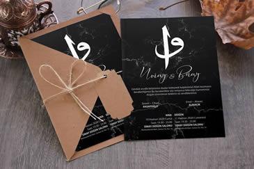 Dini vav düğün davetiyesi