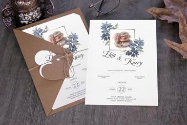 Karikatürlü düğün davetiyesi modeli
