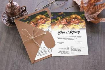 İlginç esprili düğün davetiyesi modelleri