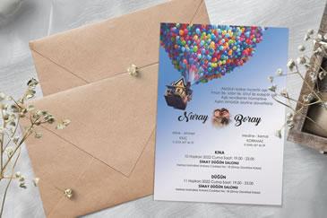 Komik düğün davetiye modelleri
